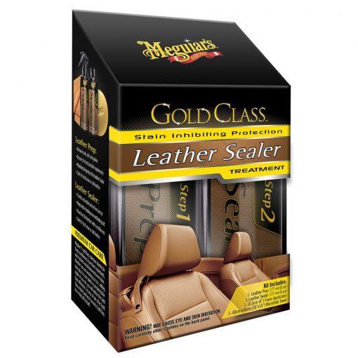 Meguiar's Gold Class Leather Sealer Treatment - sada pre hĺbkové čistenie a dlhodobú ochranu kože